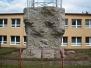 Stavba venkovní stěny DDM Sokolov